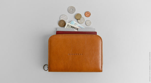 Leather Passport Travel Wallet - Delta in Brown by HANDWERS on Jetset Times SHOP