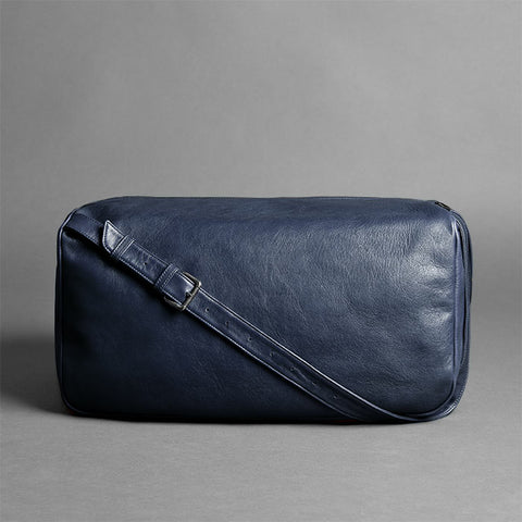 Leather Travel Duffel Bag - Pilgrim in Blue