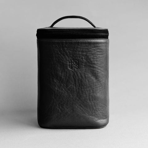 Men's Leather Dopp Kit - Yard in Black