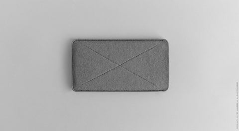 Wool Felt iPhone/iPhone Plus Sleeve - Cross in Gray