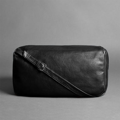 Leather Travel Duffel Bag - Pilgrim in Black by HANDWERS on Jetset Times SHOp