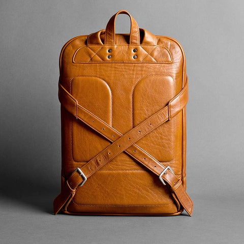 "15"" Laptop Leather City Backpack - Mangart in Brown by HANDWERS on Jetset Times SHOP"