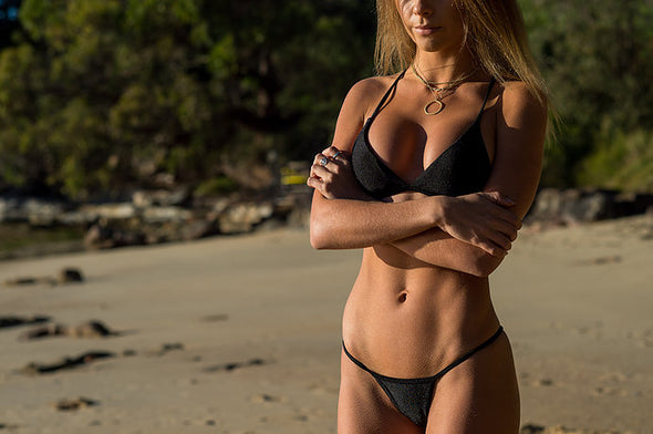Women's Black Bikini Top - Monte Carlo by The Hessian Collection on Jetset Times SHOP