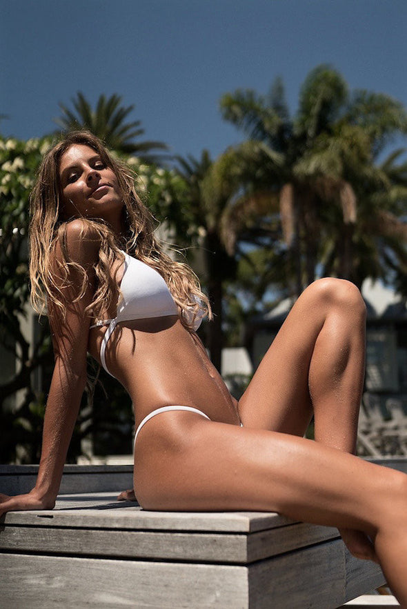 Women's White Bikini Bottom - Monte Carlo by The Hessian Collection on Jetset Times SHOP