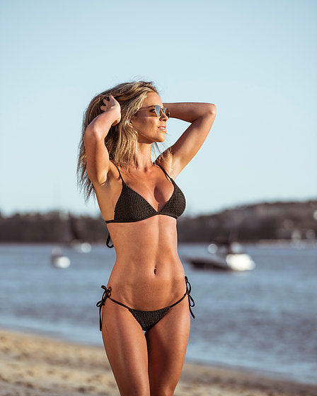 Women's Black Bikini Top - Berlin by The Hessian Collection on Jetset Times SHOP