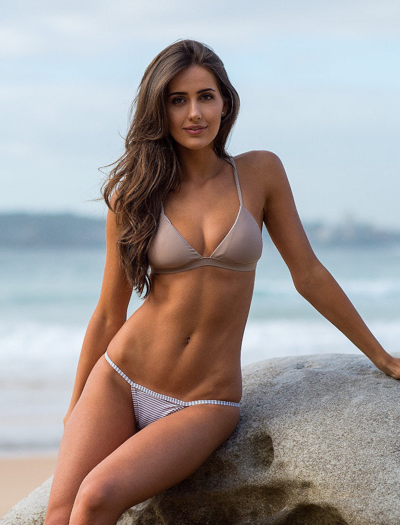 Women's Gray/White Bikini Bottom - Monte Carlo by The Hessian Collection on Jetset Times SHOP