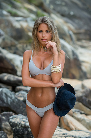 Women's Gray Bikini Top - Hvar by The Hessian Collection on Jetset Times SHOP