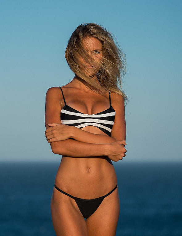 Women's Black String Bikini Bottom - Ibiza by The Hessian Collection on Jetset Times SHOP