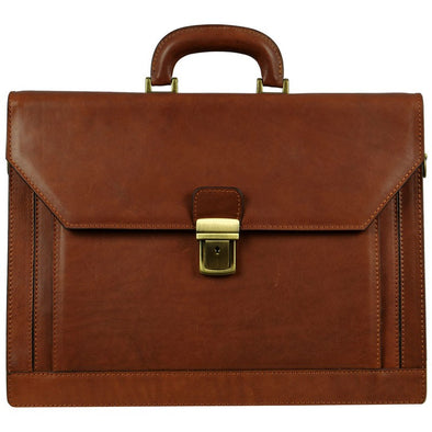 Large Leather Briefcase - Invisible Man