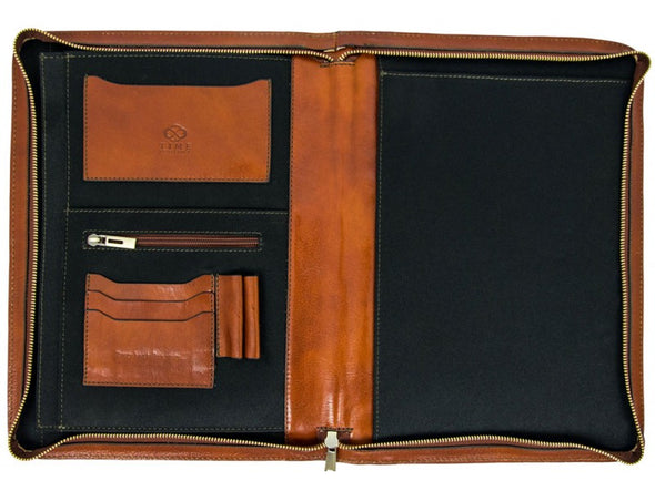 Leather Documents Folder - Candide