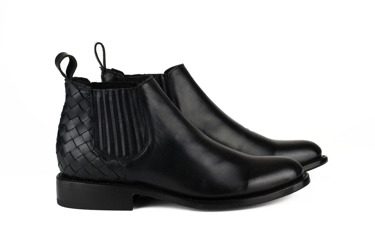 Men's Black Leather Ankle Boots - AMECA by TapatÌ_a on Jetset Times SHOP