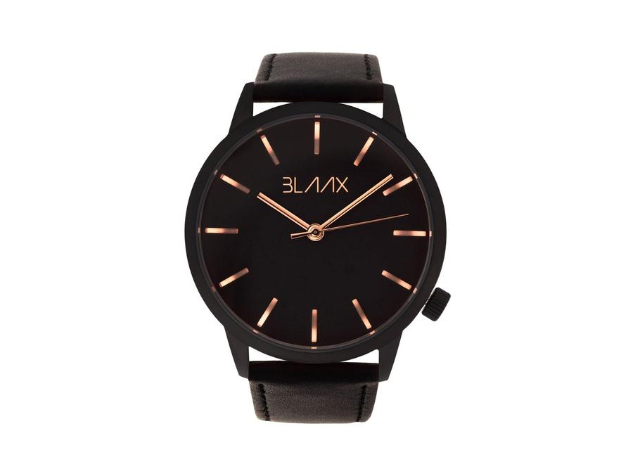 Black Leather Watch for Men and Women - Black Rose by BLAAX on Jetset Times SHOP