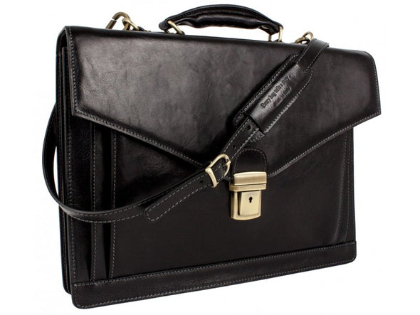 Classic Design Leather Briefcase - The Magnus