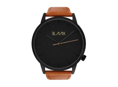 Brown Leather Watch for Men and Women - Brooklyn by BLAAX on Jetset Times SHOP