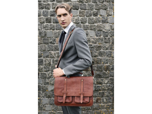 Leather Briefcase Backpack - A Midsummer Night's Dream