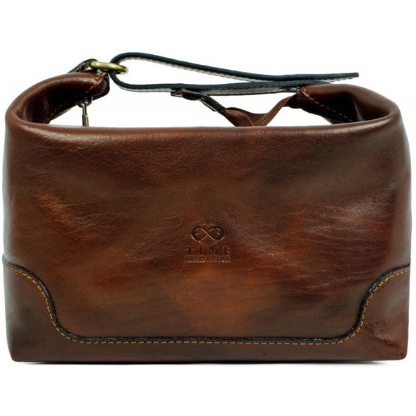Leather Toiletry Bag - Autumn Leaves