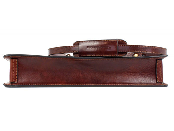 Single Compartment Leather Briefcase - Arthur
