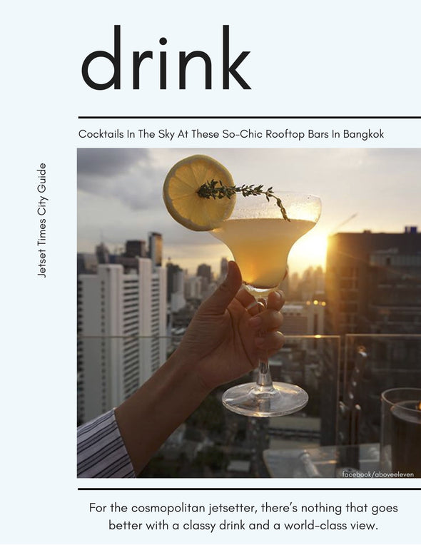 Bangkok DRINK City Guide Chapter for Offline PDF Download Use by Jetset Times SHOP