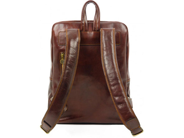 Large Unisex Leather Backpack - The Divine Comedy