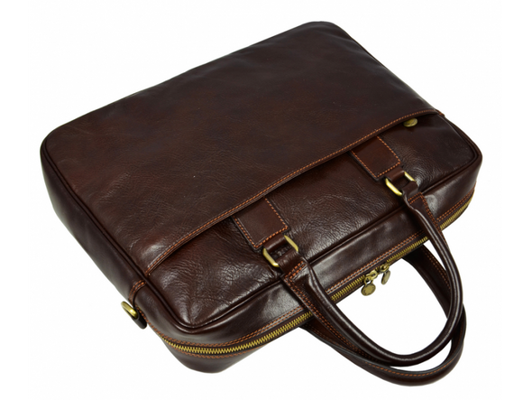 Leather Briefcase Laptop Bag - The Little Prince