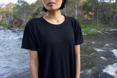 Bamboo T-Shirt in Obsidian Black for Men and Women by One For The Road on Jetset Times SHOP