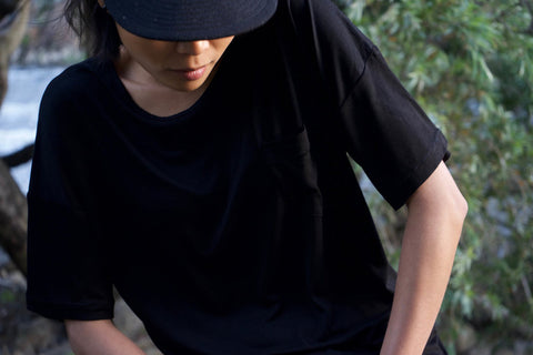 Obsidian Black T-Shirt for Men and Women - Bamboo