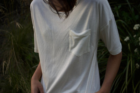 White T-Shirt for Men and Women - Bamboo