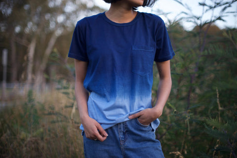 Dip Modal T-Shirt for Men and Women - Indigo