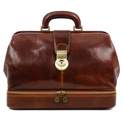 Brown Large Leather Doctor Bag - Northern Lights