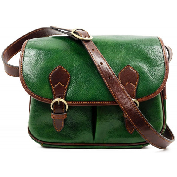 Leather Messenger Bag Crossbody - The Paris Wife