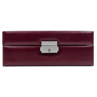 Burgundy Leather Jewelry Box - My Antonia