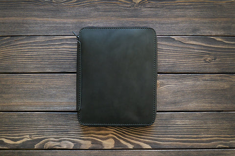 iPad Mini Leather Zip Folio - Various Colors