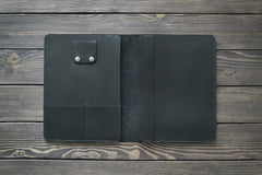 "iPad Air 9.7"" Leather Folio in Black - Handmade by INSIDE on Jetset Times SHOP"