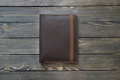 "iPad Air 9.7"" Leather Folio in Dark Brown - Handmade by INSIDE on Jetset Times SHOP"