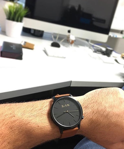 Brown Leather Watch For Men & Women - Brooklyn