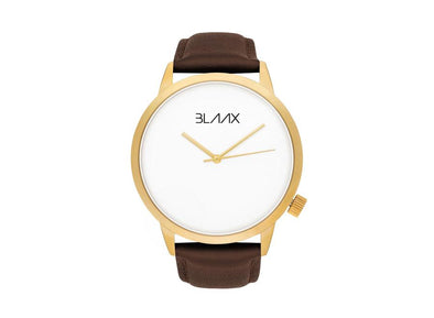 Dark Brown Leather Watch for Men and Women - Hawker by BLAAX on Jetset Times SHOP