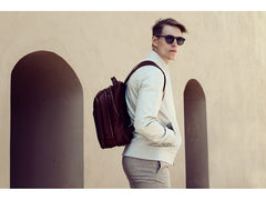 Brown Leather Backpack - The Perks of Being a Wallflower for Men and Women by Time Resistance on Jetset Times SHOP