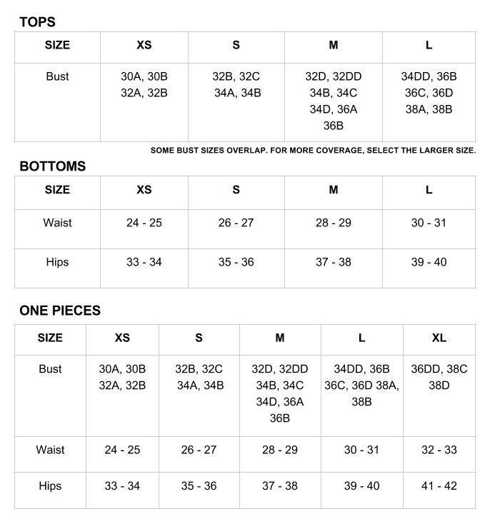 Bikini Size Guide for Lagoa Swimwear on Jetset Times SHOP