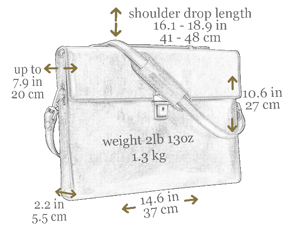 Leather Briefcase - Moonheart for Men and Women by Time Resistance on Jetset Times SHOP
