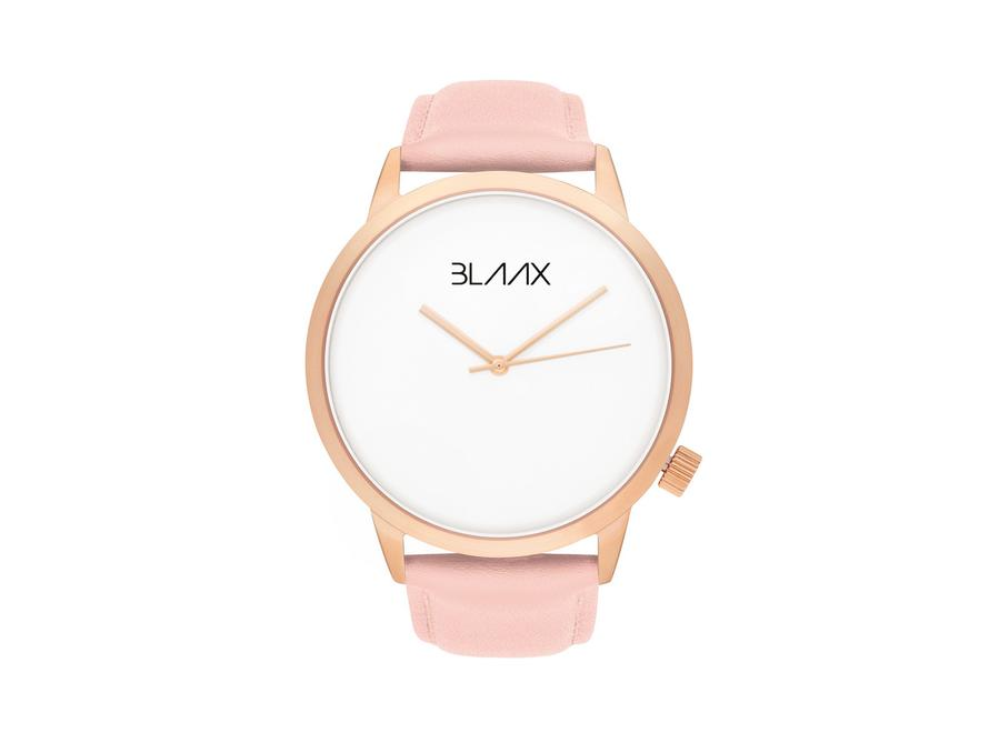 Women's Pink Leather Watch - Pink Rose by BLAAX on Jetset Times SHOP