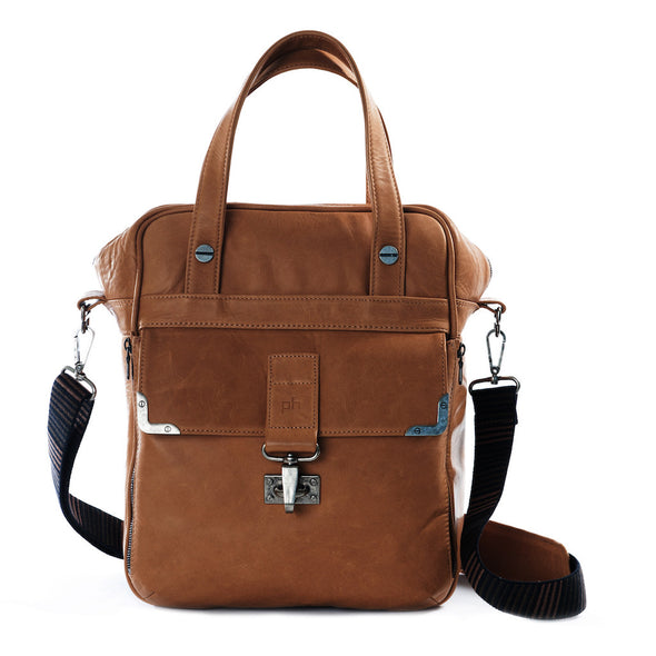Brown Leather Camera Bag - Amsterdam for Men and Women by POMPIDOO on Jetset Times SHOP