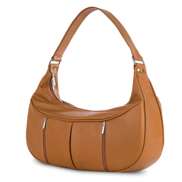 Women's Brown Leather Camera Bag - Cologne by POMPIDOO on Jetset Times SHOP
