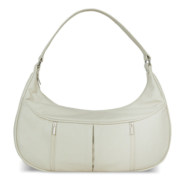 Women's Beige Leather Camera Bag - Cologne