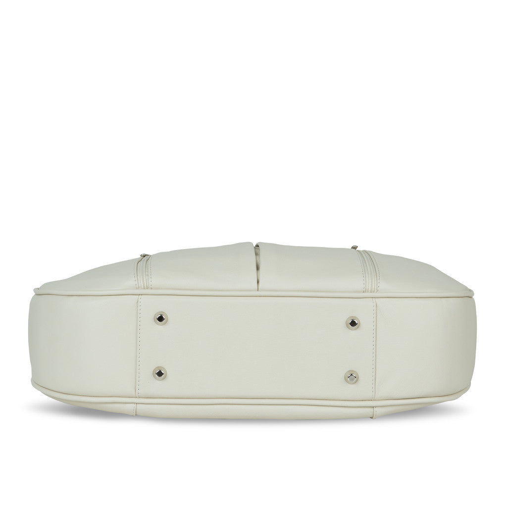 Women's Beige Leather Camera Bag - Cologne by POMPIDOO on Jetset Times SHOP