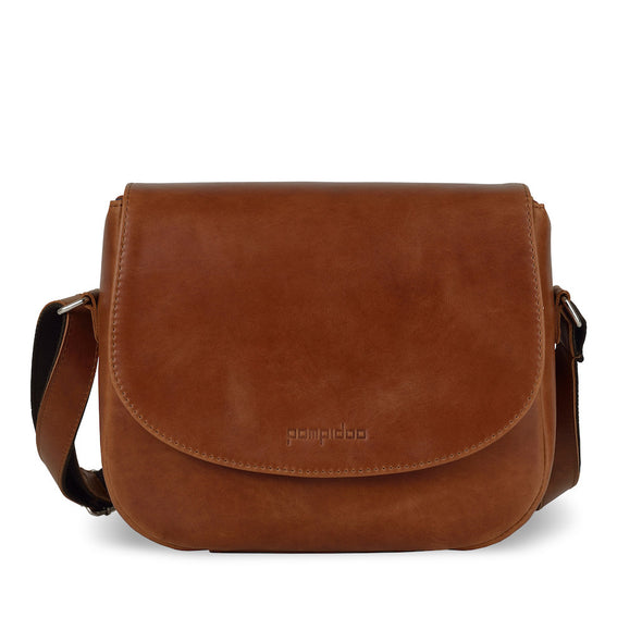 Brown Leather Camera Bag - Geneva for Men and Women by POMPIDOO on Jetset Times SHOP