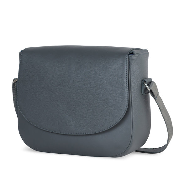 Gray Leather Camera Bag - Geneva for Men and Women by POMPIDOO on Jetset Times SHOP