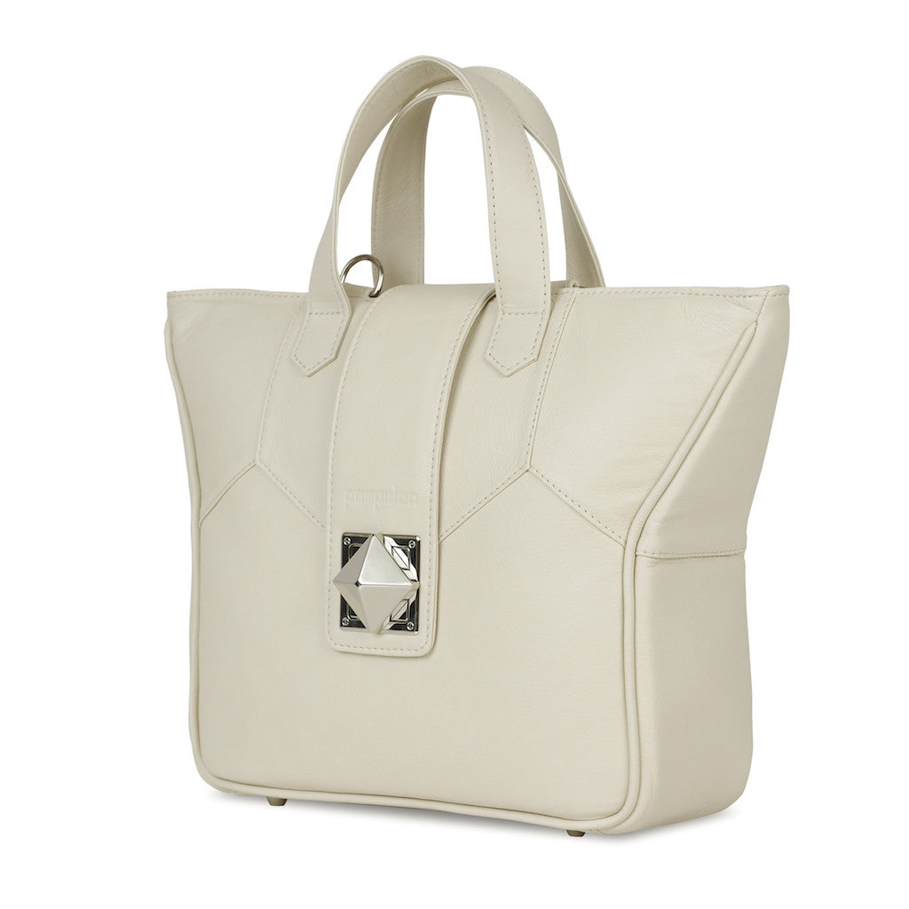 Women's Beige Leather Camera Bag - Kimberly by POMPIDOO on Jetset Times SHOP