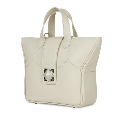 Women's Beige Leather Camera Bag - Kimberly