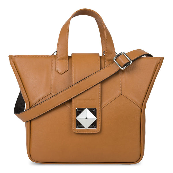 Women's Brown Leather Camera Bag - Kimberly