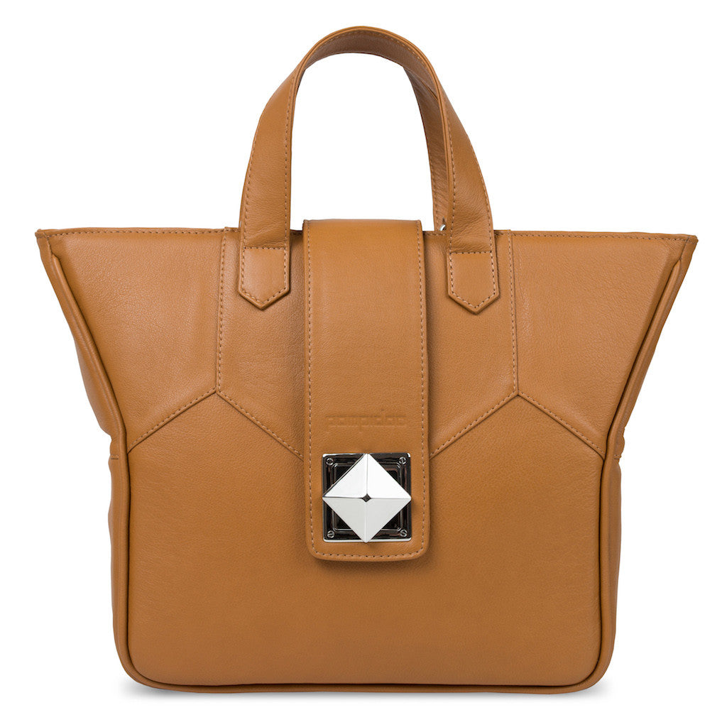 Women's Brown Leather Camera Bag - Kimberly by POMPIDOO on Jetset Times SHOP